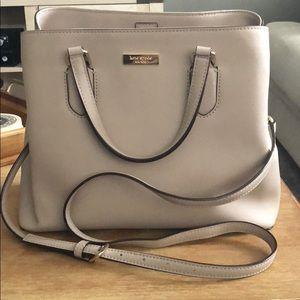 Taupe Kate Spade shoulder handbag